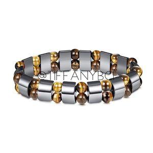 Stone Hematite Tiger Eye Bracelet